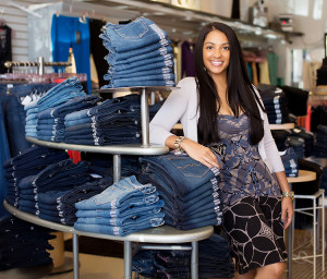 Erica Malhotra, owner of B Chic salon in Wilton Center. Check out her award winning selection of designer jeans!