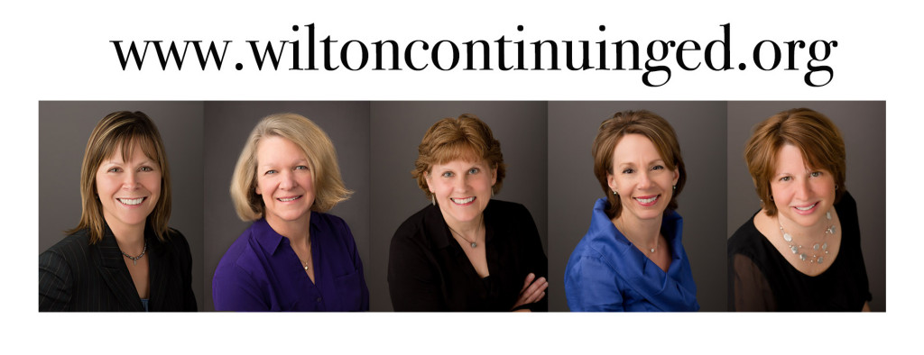 The 2014 friendly faces behind the scenes of our wonderful Wilton Continuing Ed programs!