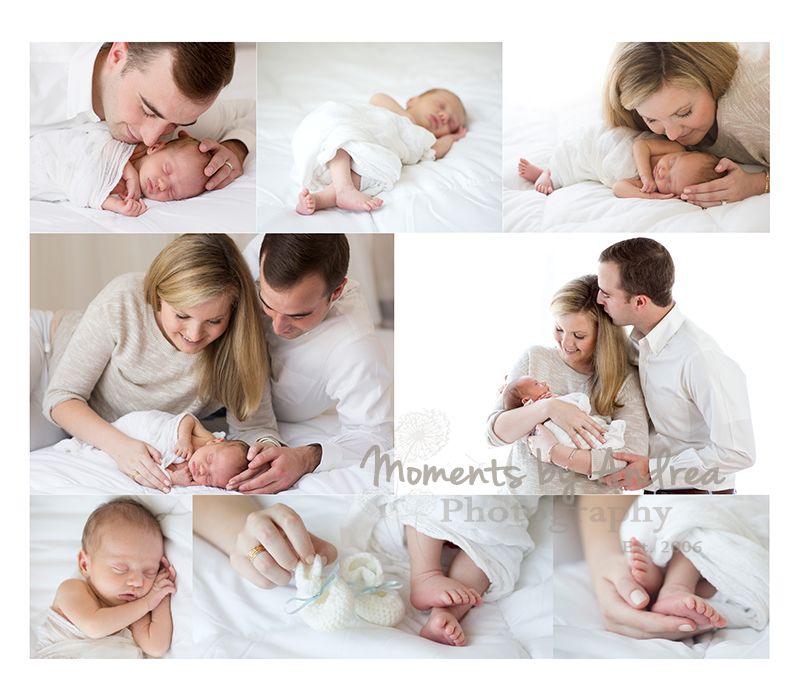 all white newborn collage fb